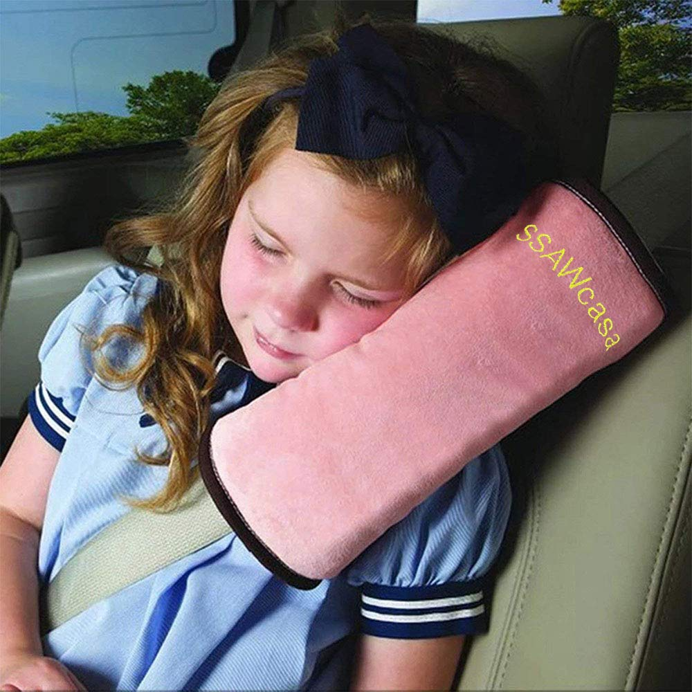 SSAWcasa Travel Pillow Kids Car,Seat Belt Pillow for Sleep