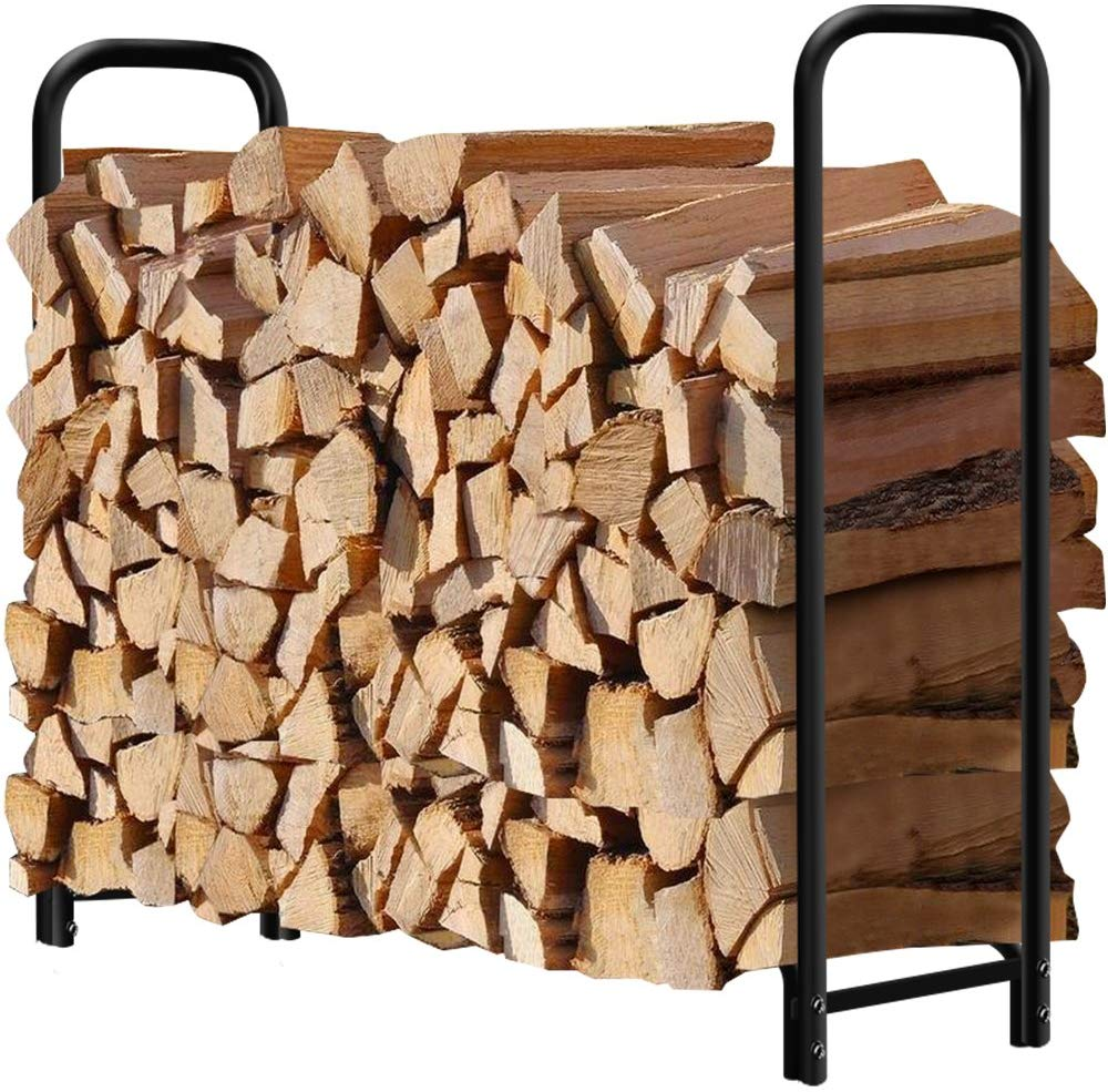4ft Firewood Rack Outdoor Log Holder
