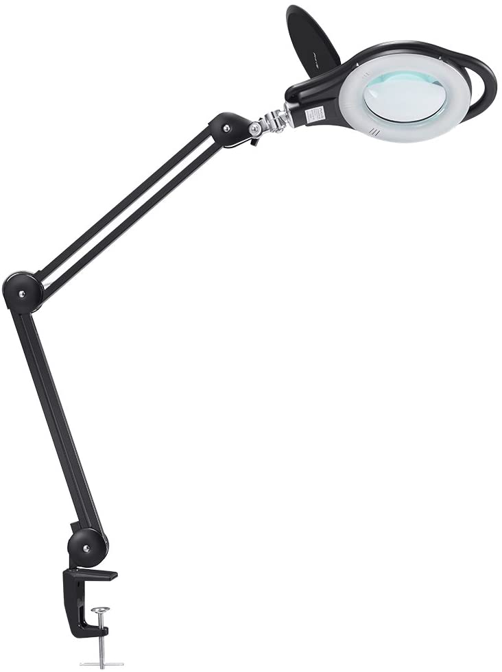 LED Magnifier Dimmable Desk Lamp