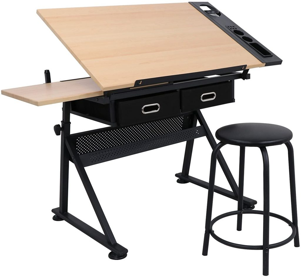 ZENY Adjustable Desk Drawing Table